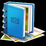Foto album als icoon voor het openen van het fotoalbum